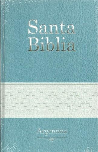 Santa Biblia Letra Grande Argentina Celeste Y Blanca