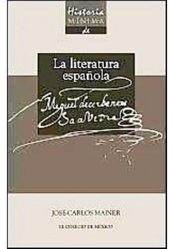 portada Historia Minima de la Literatura Española. Miguel de Cervantes Saavedra