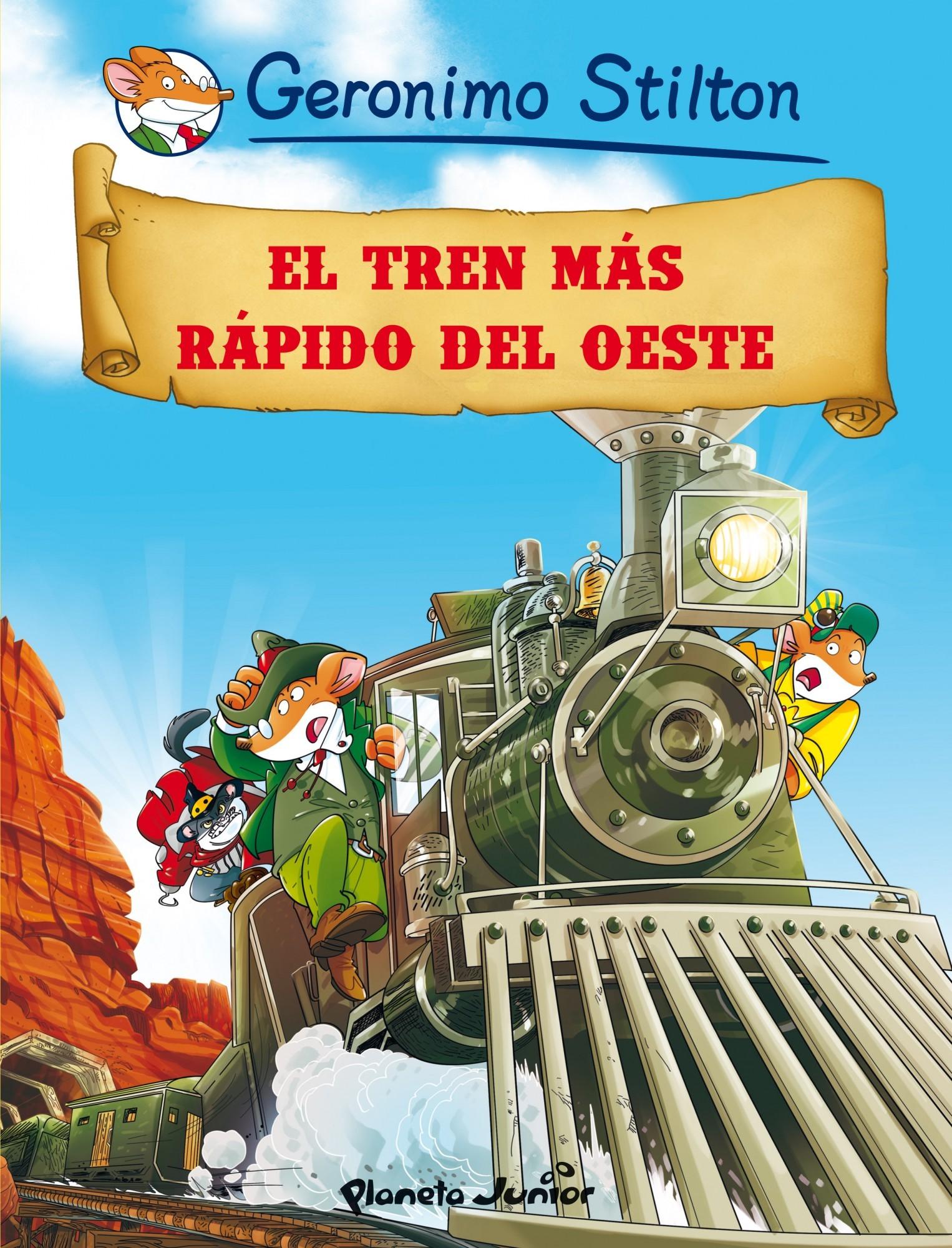 portada El Tren más Rápido del Oeste: Cómic Geronimo Stilton 13